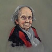 Portret Germaine, Olieverf op paneel, 50 x 40 cm