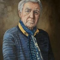 Portret meneer, olieverf op paneel, 50 x 45 cm, 2017