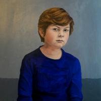 Portret George, olieverf op paneel, 50 x 45 cm, 2017
