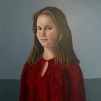 Portret Louise, olieverf op paneel, 50 x 45 cm, 2017
