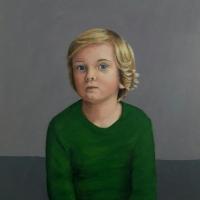 Portret Alexander, olieverf op paneel, 50 x 45 cm, 2017