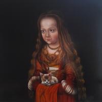 Prinses, olieverf op paneel, 50 x 50 cm, 2018
