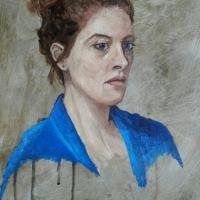 Portret Illona, olieverf op paneel, 40 x 30 cm