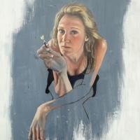 Zelfportret, olieverf op paneel, 60 x 50 cm, 2018